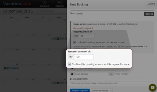 Backoffice & Booking Calendar