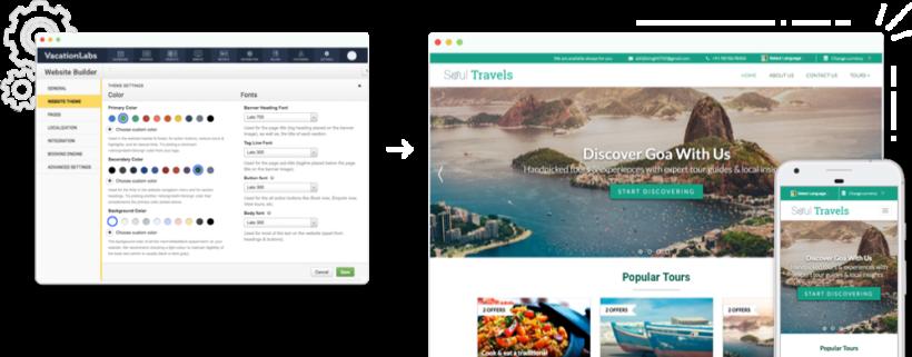 Travel Website Builder