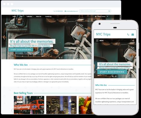 City Tours Website Template