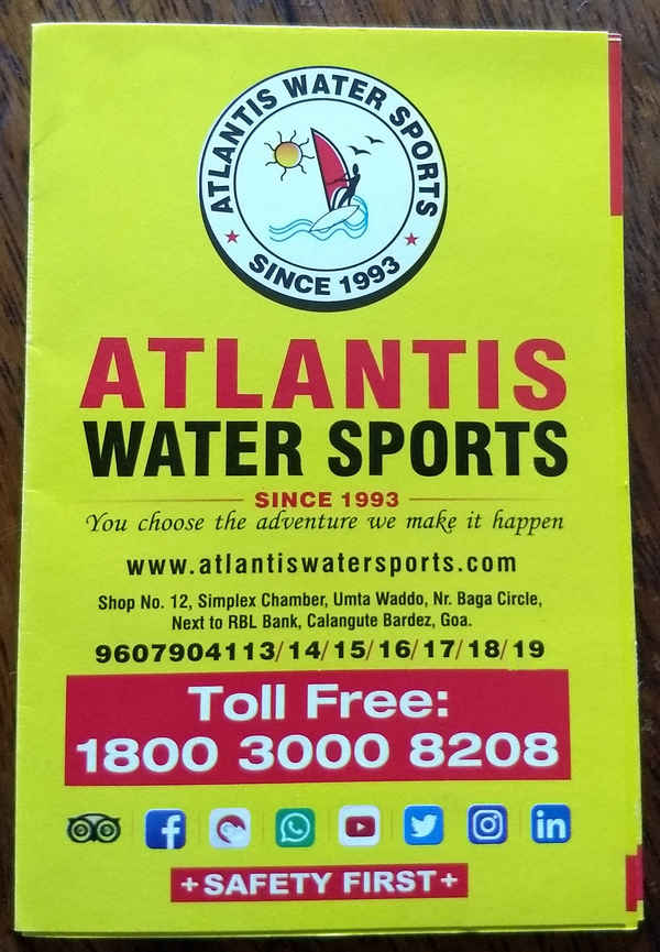 Safety is a big part of Atlantis Watersports, even in their Advertising