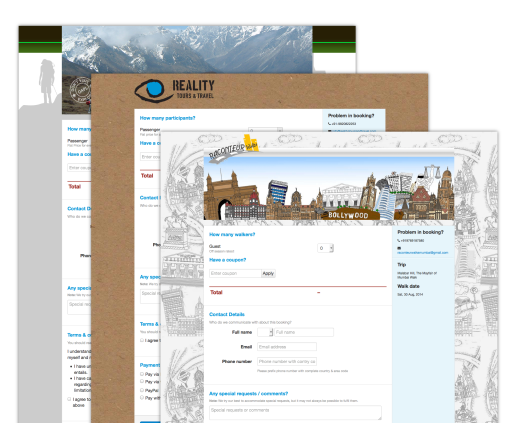 Online Booking System for  Tour Operators