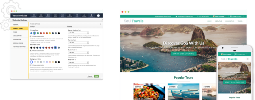 Travel Website Builder