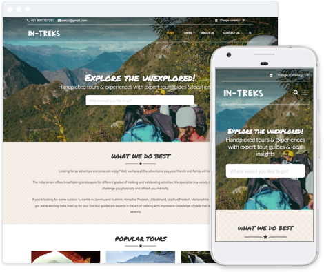 Adventure Tour Website Template