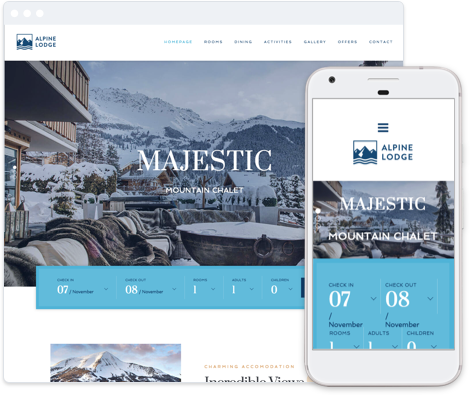 Hotel Website Template - Alpine Lodge