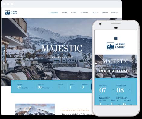 Hotel Website Template - Alpine Lodge