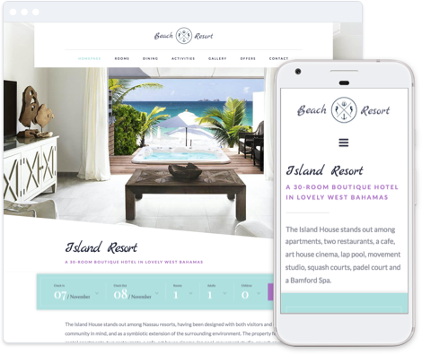 Hotel Website Template - Haven