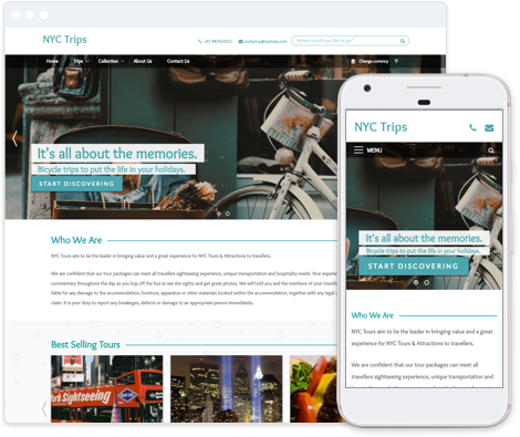 City Tours Website Template
