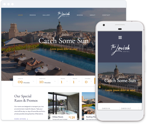 Hotel Website Template- Luxury