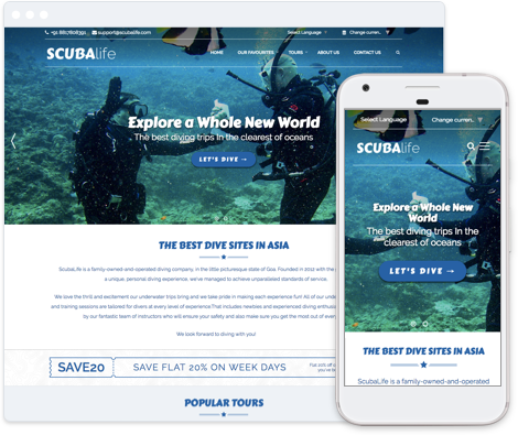 Water Sports Website Template