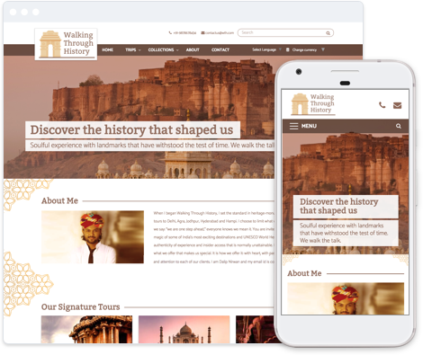 Cultural and Historical Tours Website Template