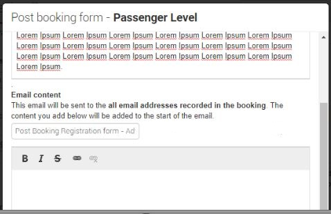 email-post-booking-form