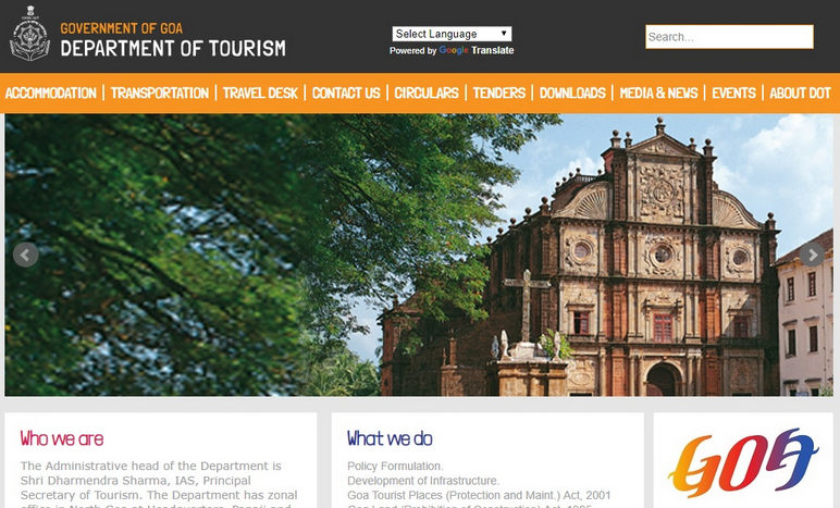 Department of tourism Goa