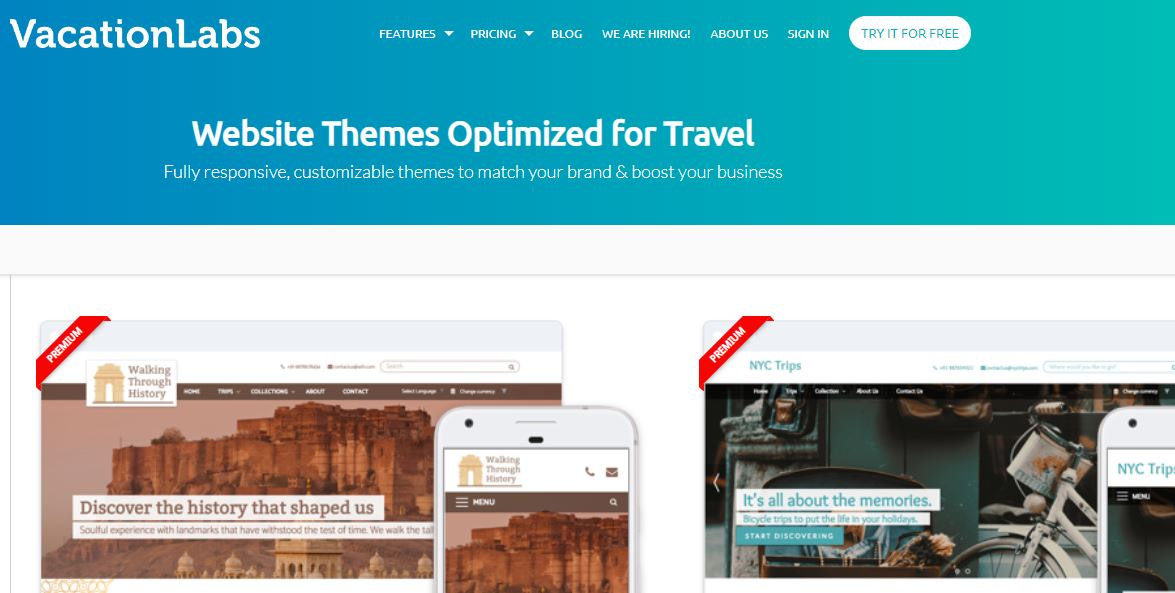 Vacation Labs - Travel website builder with booking engine